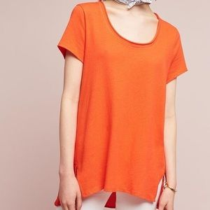 Anthropologie Dolan Orange Woven Back Tunic Top XS